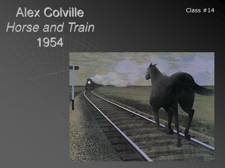 Alex colville horse and train 1954