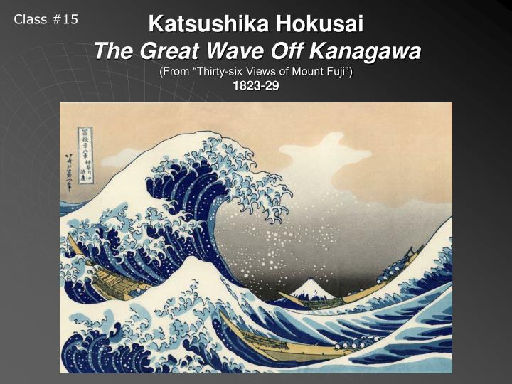 Katsushika hokusai the great wave off kanagawa from thirty six views of mount fuji 1823 29
