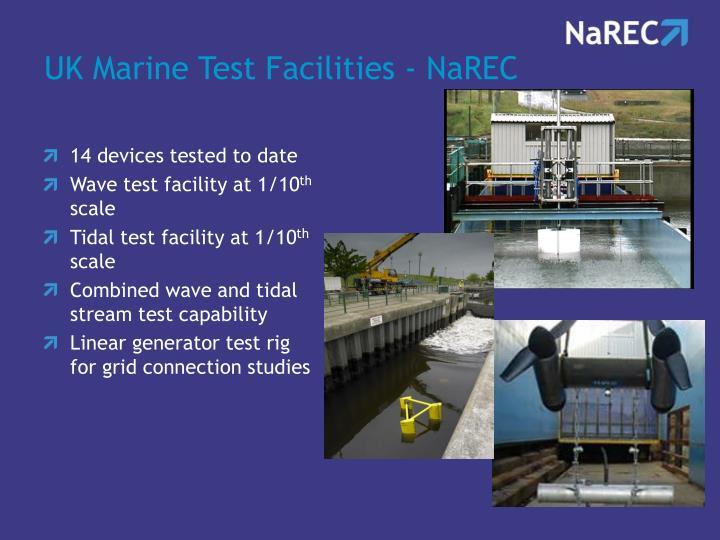 UK Marine Test Facilities - NaREC