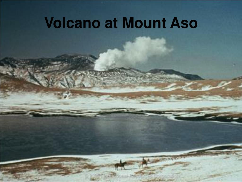 volcano at mount aso l.