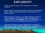 explosivity