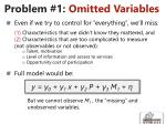 problem 1 omitted variables
