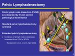 pelvic lymphadenectomy