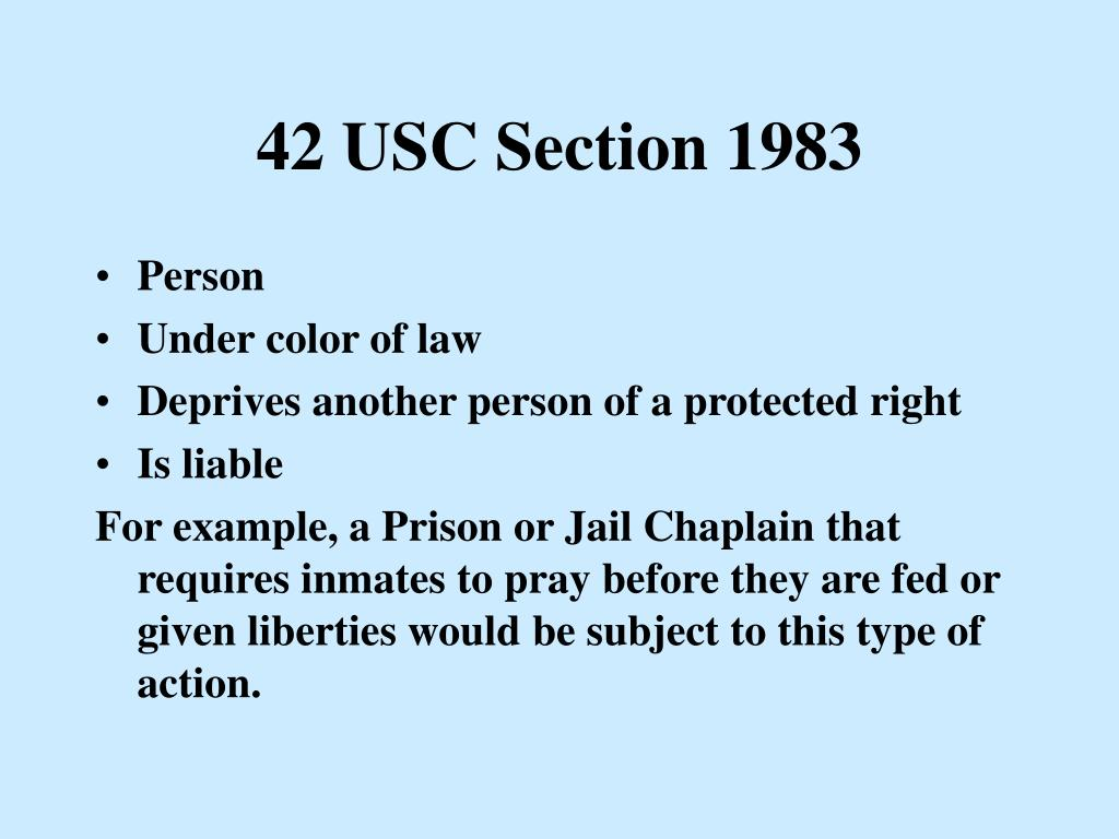 42 USC Section 1983