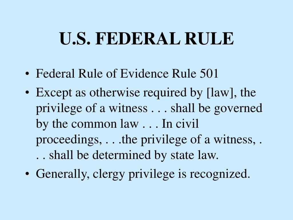 U.S. FEDERAL RULE
