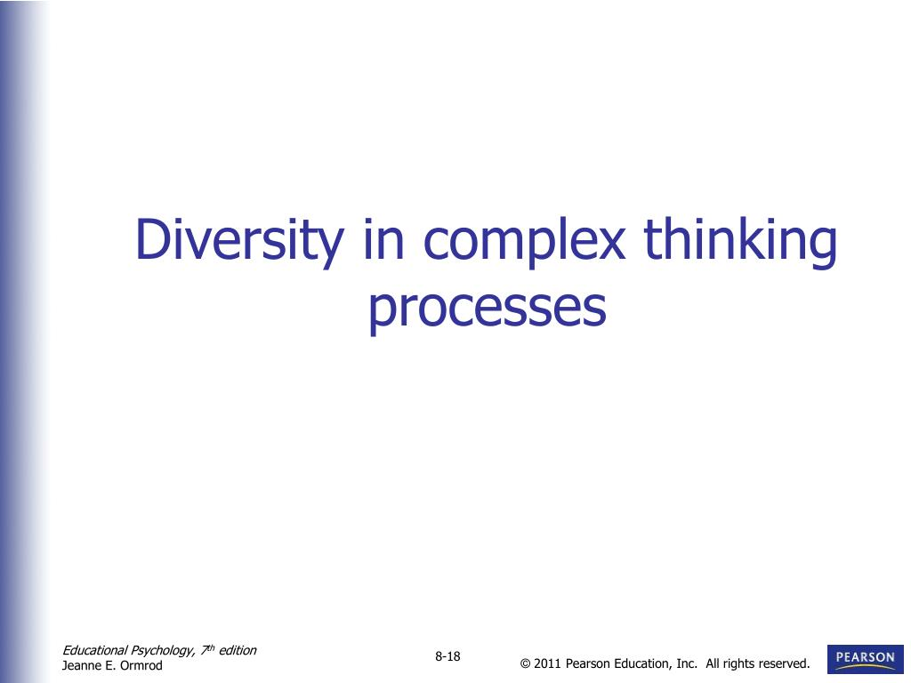Diversity in complex thinking processes