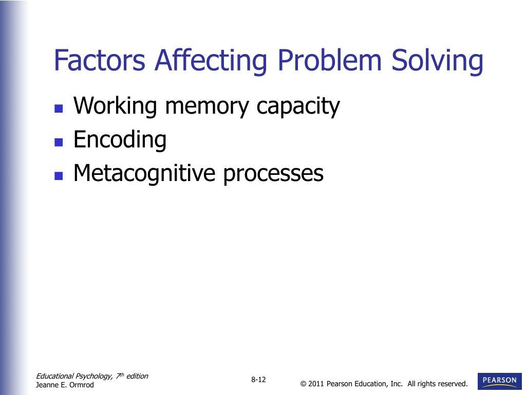 Factors Affecting Problem Solving