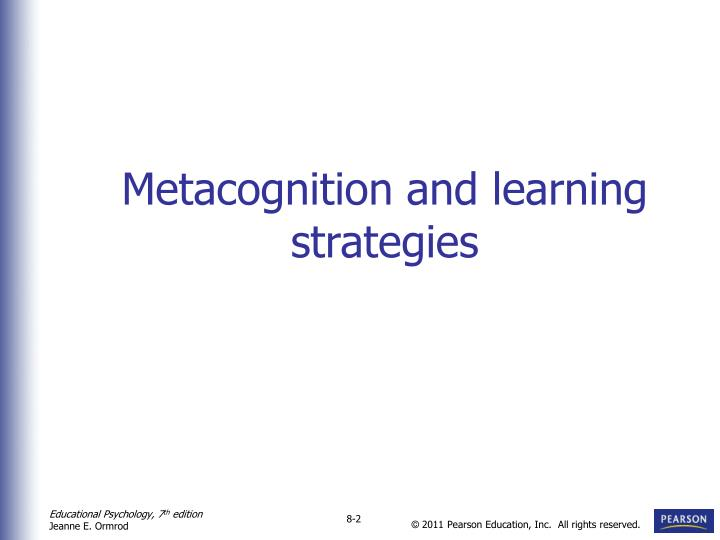 Metacognition and learning strategies