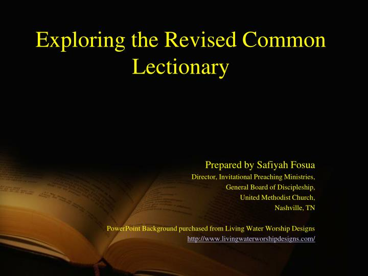 Ppt Exploring The Revised Common Lectionary Powerpoint Presentation Free Download Id 651839