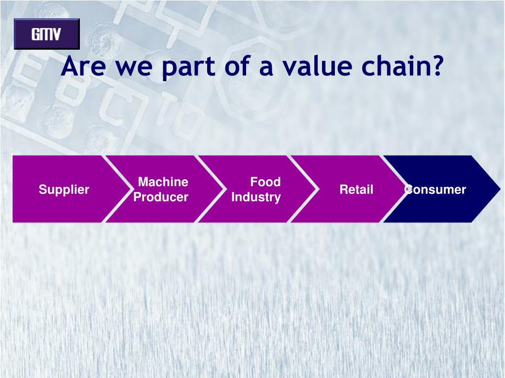 Are we part of a value chain?