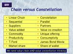 chain versus constellation
