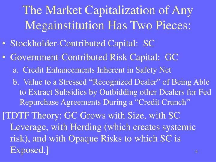 The Market Capitalization of Any Megainstitution Has Two Pieces: