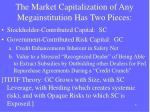 the market capitalization of any megainstitution has two pieces