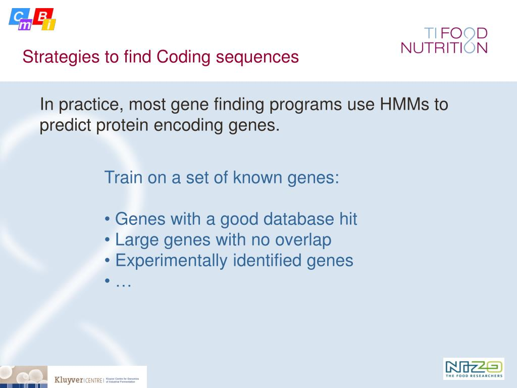 Strategies to find Coding sequences