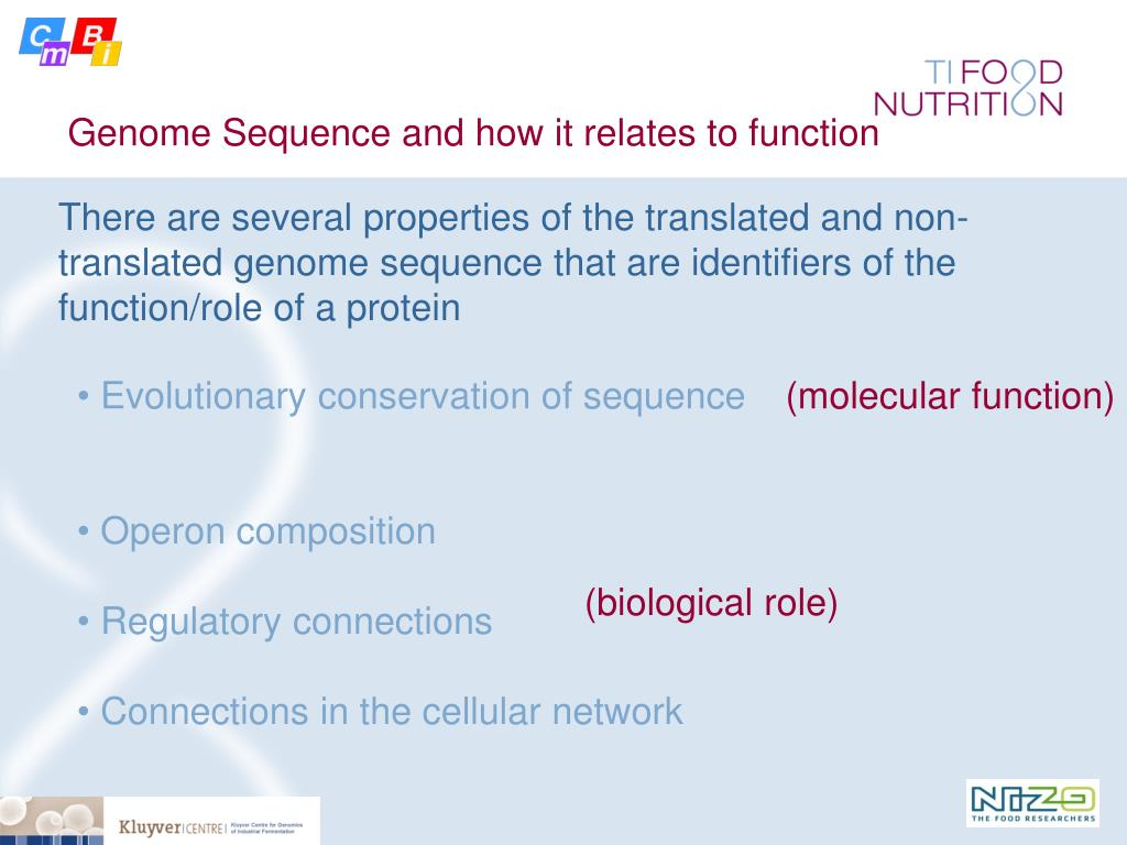 Genome Sequence and how it relates to function