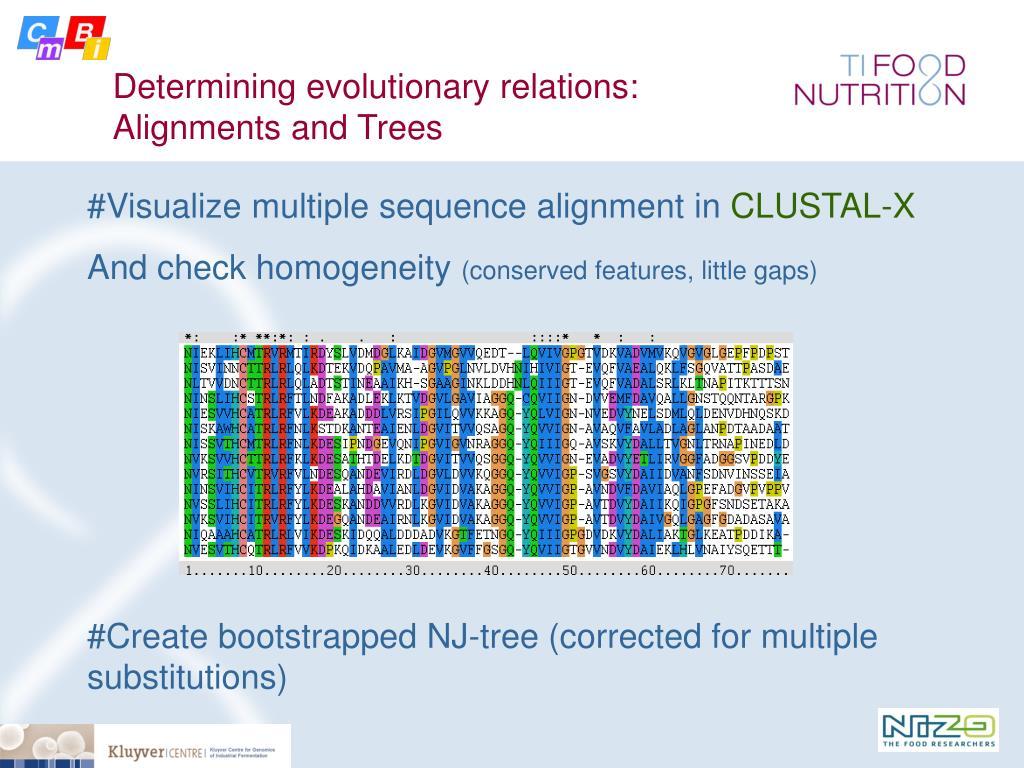 Determining evolutionary relations:
