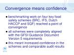 convergence means confidence