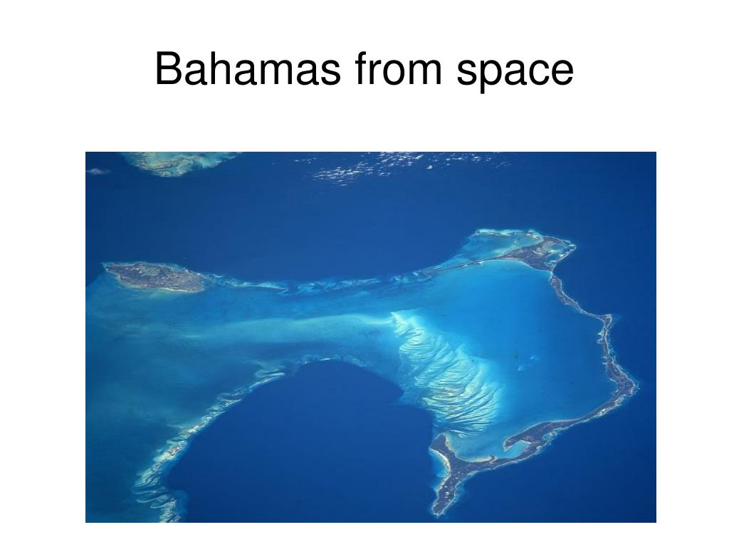 Bahamas from space