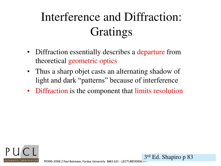 Interference and Diffraction: Gratings
