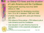a global fdi flows and the situation of latin america and the caribbean