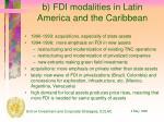 b fdi modalities in latin america and the caribbean