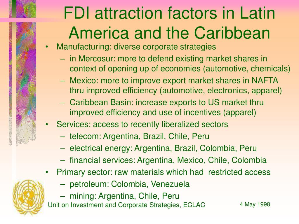 FDI attraction factors in Latin America and the Caribbean