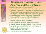 fdi attraction factors in latin america and the caribbean