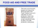 food aid and free trade
