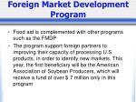 foreign market development program