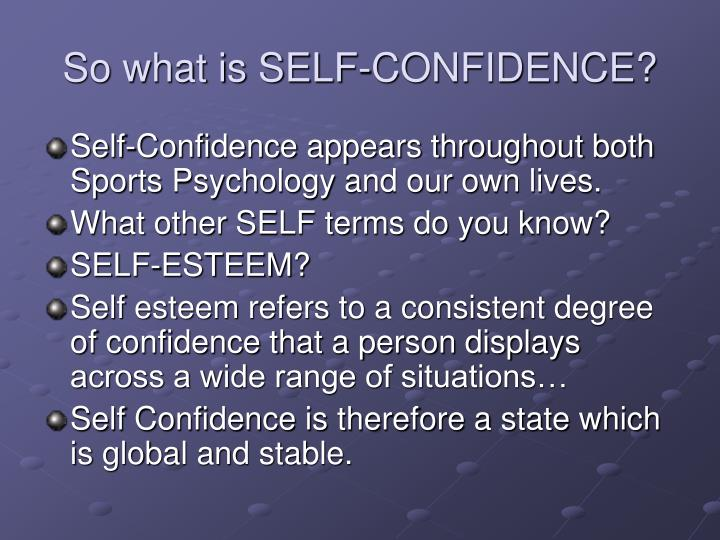 sports psychology confidence