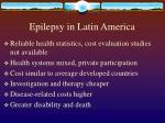 epilepsy in latin america