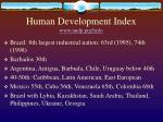 human development index www undp prg hrdo