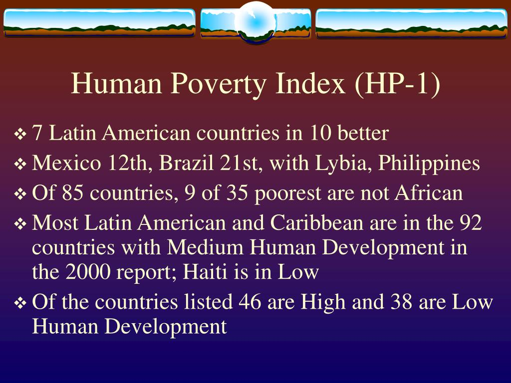 Human Poverty Index (HP-1)
