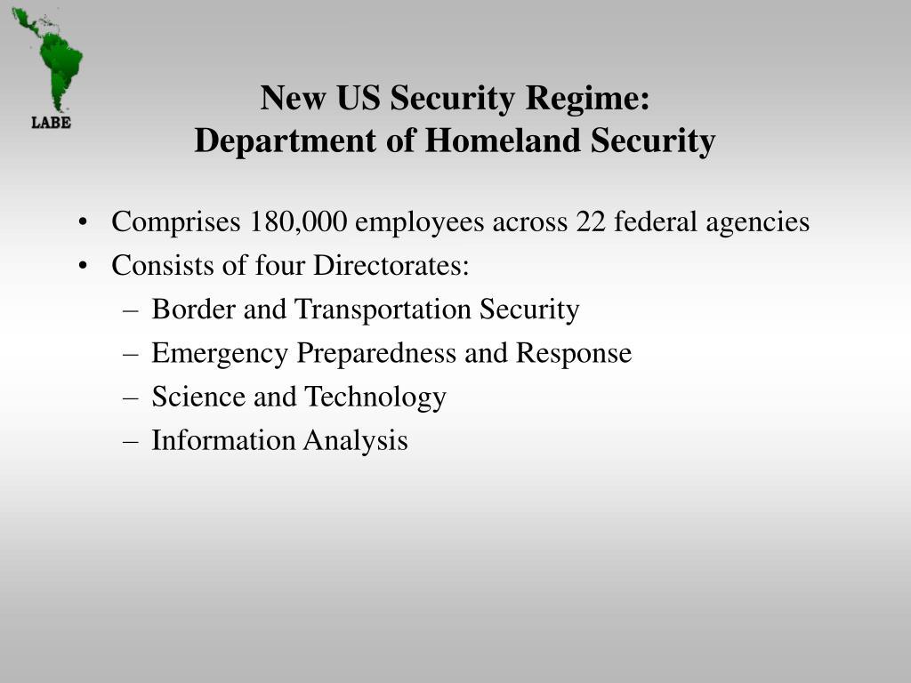 New US Security Regime:
