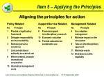 item 5 applying the principles44