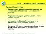 item 7 financial costs benefits73