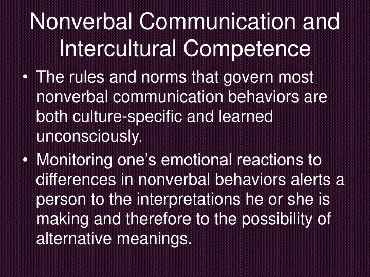 Nonverbal Communication and Intercultural Competence