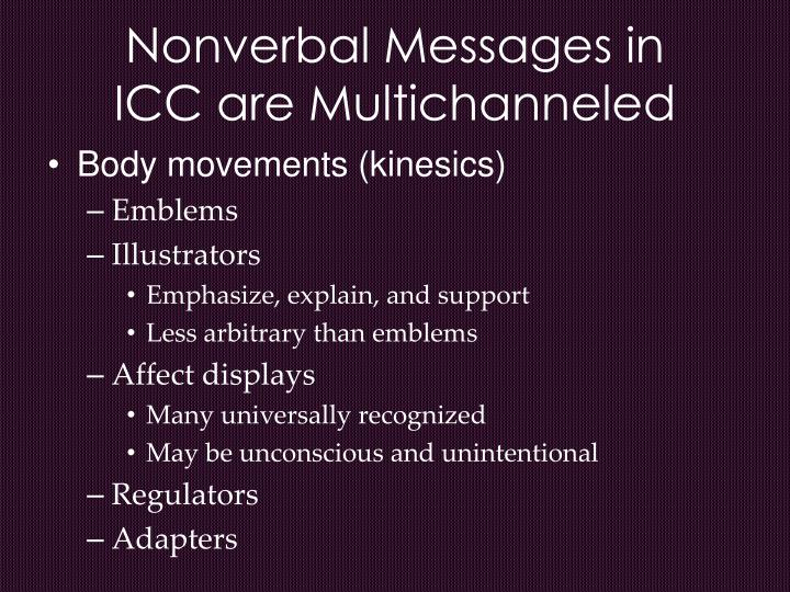 Nonverbal Messages in