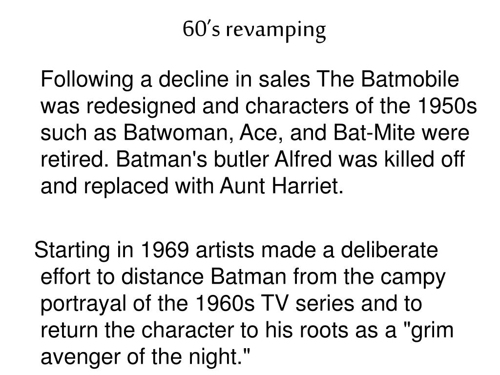 60's revamping