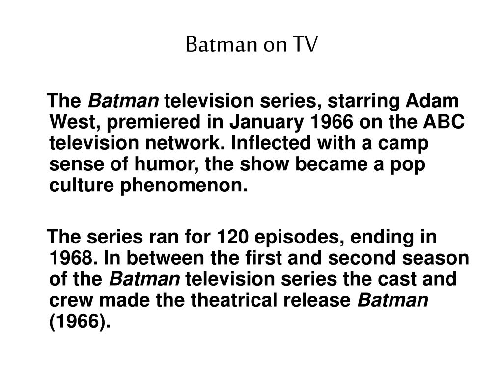 Batman on TV