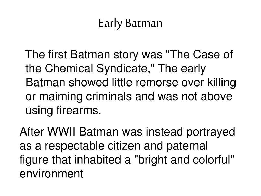 Early Batman
