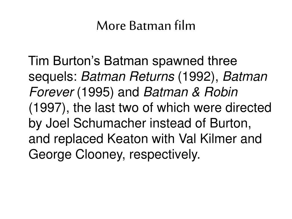 More Batman film