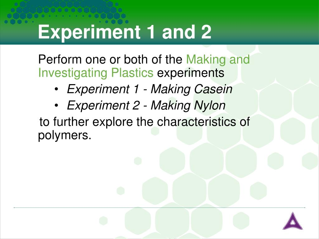 Experiment 1 and 2
