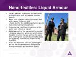nano textiles liquid armour