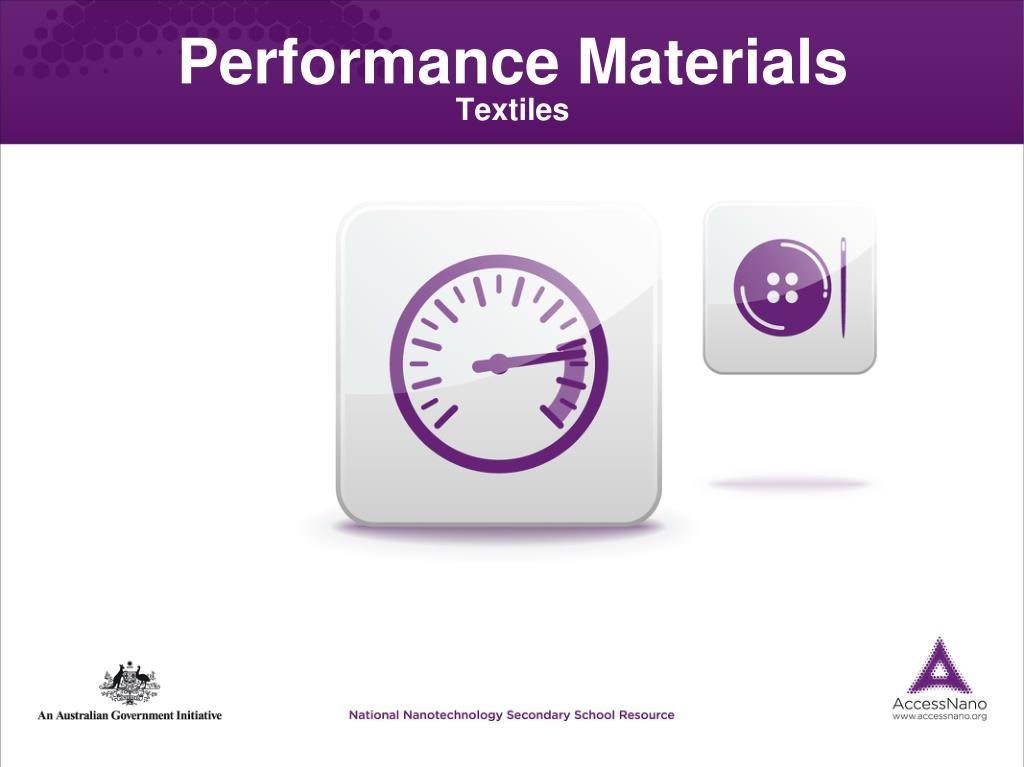 performance materials textiles l.