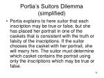 portia s suitors dilemma simplified79