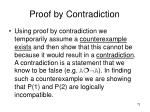 proof by contradiction73