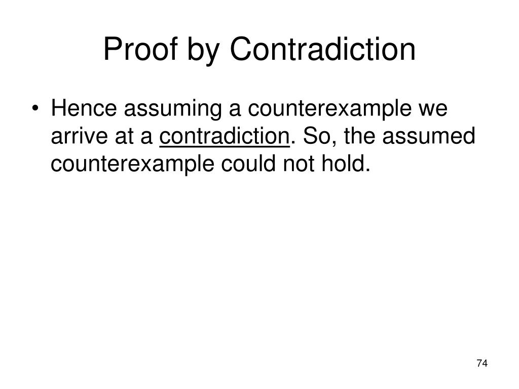 Proof by Contradiction