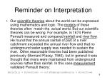 reminder on interpretation9