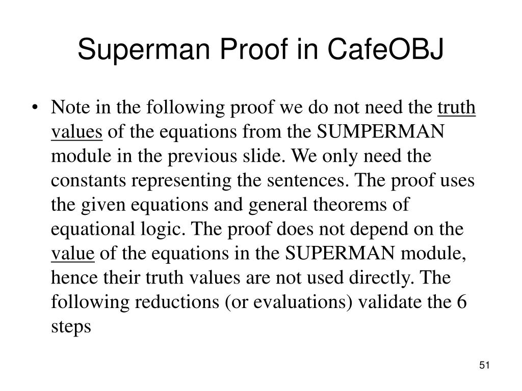 Superman Proof in CafeOBJ